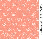seamless vector pattern with... | Shutterstock .eps vector #525527095