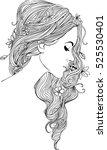 girl's profile | Shutterstock .eps vector #525530401
