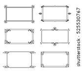 vector frame labels set... | Shutterstock .eps vector #525530767