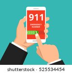 emergency call 911 concept.... | Shutterstock .eps vector #525534454