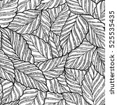 elegant seamless pattern leaves | Shutterstock .eps vector #525535435
