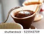 hand drip coffee   barista... | Shutterstock . vector #525543709