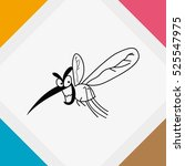 mosquito icon. leech icon. wasp ... | Shutterstock .eps vector #525547975