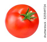 tomato isolated on white. with... | Shutterstock . vector #525549724