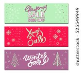 set of christmas and new year...   Shutterstock .eps vector #525549949