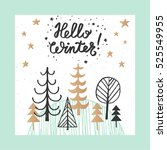 christmas and new year design... | Shutterstock .eps vector #525549955