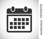 calendar icon  | Shutterstock .eps vector #525550735