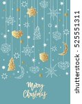 merry christmas and happy new... | Shutterstock .eps vector #525551311
