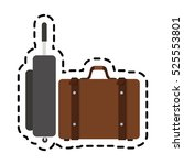 isolated baggage design | Shutterstock .eps vector #525553801