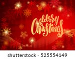 christmas background with... | Shutterstock . vector #525554149