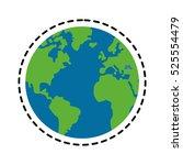 isolated planet sphere design | Shutterstock .eps vector #525554479