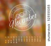 Vector Calendar On Abstract...