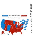 this is how usa voted in the... | Shutterstock .eps vector #525555487