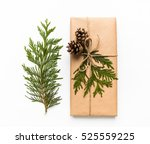 vintage gift box in craft paper ... | Shutterstock . vector #525559225