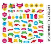 web stickers  banners and... | Shutterstock . vector #525561055