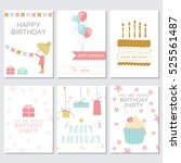 birthday  greeting and... | Shutterstock .eps vector #525561487