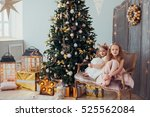 adorable little girls sitting... | Shutterstock . vector #525562084