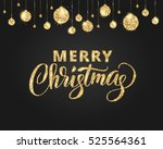 merry christmas card with... | Shutterstock .eps vector #525564361