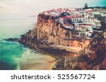 azenhas do mar stunning village ... | Shutterstock . vector #525567724