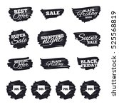ink brush sale stripes and... | Shutterstock . vector #525568819