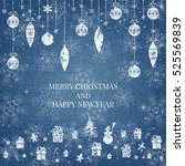 new year and merry christmas...   Shutterstock .eps vector #525569839