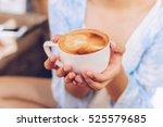 closeup of female hands holding ...   Shutterstock . vector #525579685
