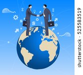 global deal business concept.... | Shutterstock .eps vector #525583519