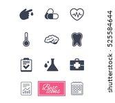 medicine  healthcare and... | Shutterstock . vector #525584644