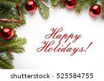 christmas decoration background ... | Shutterstock . vector #525584755