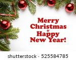 christmas decoration background ... | Shutterstock . vector #525584785