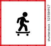 skateboarder icon vector... | Shutterstock .eps vector #525584917