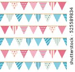 bunting seampless pattern ... | Shutterstock .eps vector #525589834