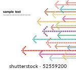 colored arrows vector | Shutterstock .eps vector #52559200