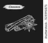 vector line drawing handmade... | Shutterstock .eps vector #525593371