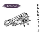 vector line drawing handmade...   Shutterstock .eps vector #525594979