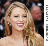 blake lively attends the 'cafe... | Shutterstock . vector #525597955