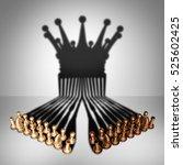 concept of teamwork alliance... | Shutterstock . vector #525602425