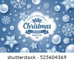 christmas greeting card with... | Shutterstock .eps vector #525604369