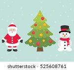 cartoon snowman and santa claus ...