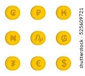 money icons set. flat... | Shutterstock . vector #525609721