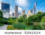 summer scene at central park... | Shutterstock . vector #525613114