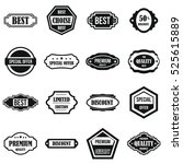 golden labels icons set. simple ... | Shutterstock . vector #525615889