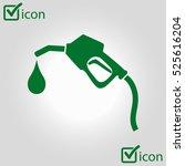 gasoline pump nozzle sign.gas... | Shutterstock .eps vector #525616204