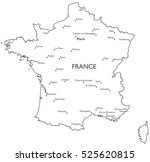 vector map of france  ... | Shutterstock .eps vector #525620815