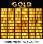 vector set of gold gradients... | Shutterstock .eps vector #525623749