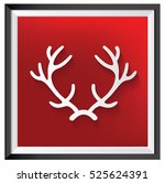 deer design clean vector | Shutterstock .eps vector #525624391