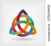 triquetra symbol in rainbow... | Shutterstock .eps vector #525626905