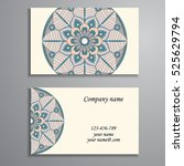 business card. vintage... | Shutterstock .eps vector #525629794