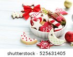 Christmas Cookies In Bowl On A...