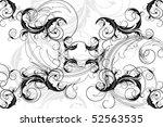 elegant flower background | Shutterstock .eps vector #52563535